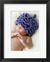 Baby In Blue Hat II Framed Print