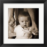 Framed Baby Holding Mom And Dad Hands
