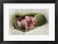 Baby In Pea Green Knit Framed Print