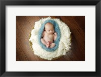 Baby In Blue Pod Framed Print