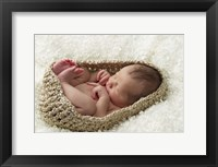 Baby In Beige Pod Framed Print