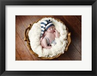 Baby Blues And White Framed Print