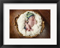 Basket Baby Framed Print