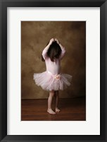 Framed Little Girl In Ballet Outfit