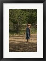 Framed Little Boy In Overalls