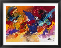 Abstract Red and Yellow 1 Framed Print