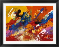 Abstract Orange Summer 3 Framed Print
