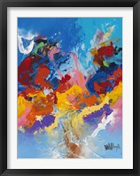 Abstract Ocean Blue 4 Framed Print