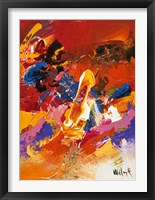 Framed Abstract Orange Summer 2
