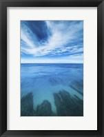 Framed Waikiki Daytime Reef Vertical