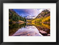 Framed Maroon Bells