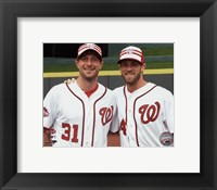 Framed Max Scherzer & Bryce Harper 2015 MLB All-Star Game