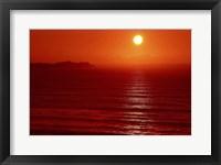 Framed Red Seascape