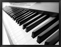 Framed Yamaha P120 close-up of Piano Keys