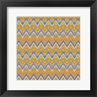 Framed Chevron Waves I