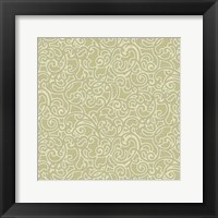 Sheer Romance Scroll II Framed Print