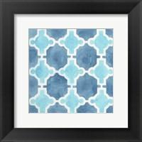 Framed Watercolor Tile VII
