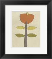 Simple Stems V Framed Print