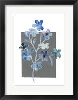 Blue Bouquet II Framed Print