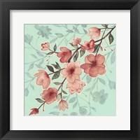 Cherry Blossom Shadows II Framed Print