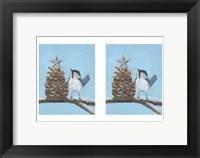 Framed Chickadee Christmas II 2-Up