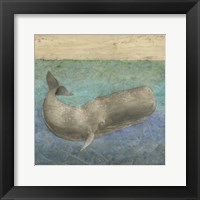 Diving Whale II Framed Print