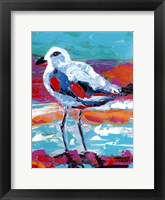 Framed Seaside Birds I