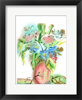 Flower Burst Vase II Framed Print