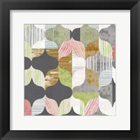 Arabesque Shapes I Framed Print