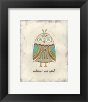 The Hoots I Framed Print