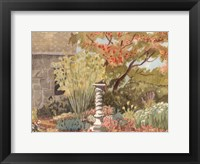 Framed Watercolor Garden I
