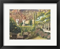 Framed Watercolor Garden II