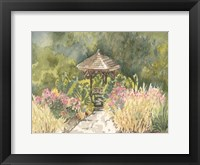 Framed Watercolor Garden IV
