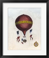 Vintage Hot Air Balloons III Framed Print