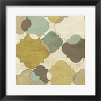 Quatrefoil Overlay I Framed Print