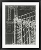 Iconic Blueprint I Framed Print