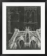 Iconic Blueprint IV Framed Print
