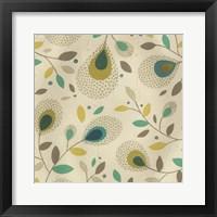Peacock Blooms I Framed Print