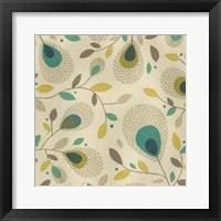 Peacock Blooms II Framed Print