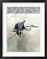 Waterbirds in Mist III Framed Print
