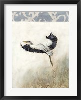 Waterbirds in Mist IV Framed Print