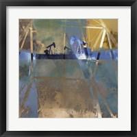 Oil Rig Abstraction I Framed Print