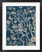 Indigo Night Chinoiserie I Framed Print