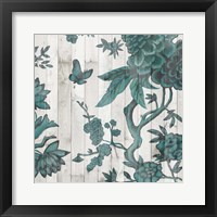 Terra Verde Chinoiserie I Framed Print