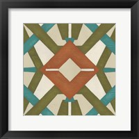 Global Motif III Framed Print