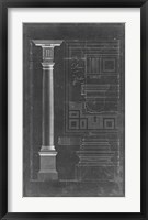 Framed Doric Order Blueprint