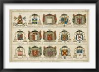 Framed Art Heraldique II