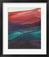 Red Hills I Framed Print