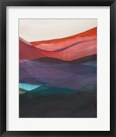 Red Hills II Framed Print