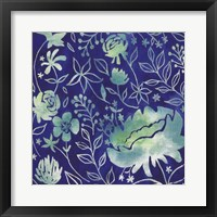 Indigo Batik II Framed Print